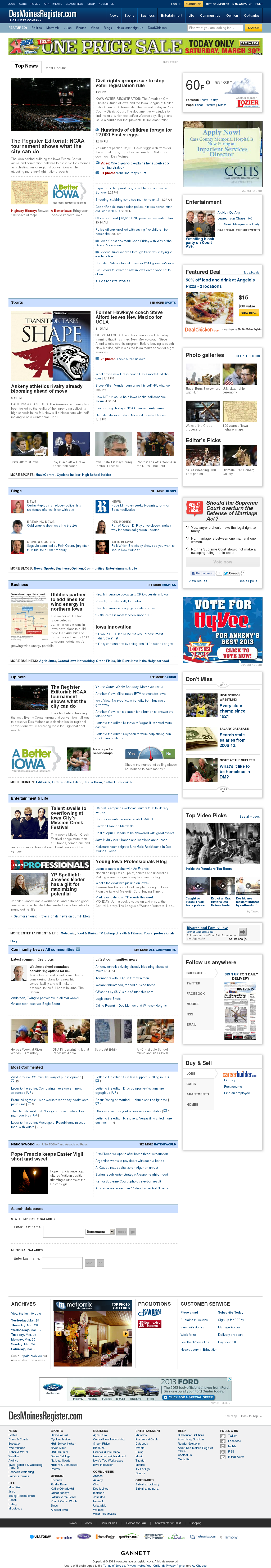 DesMoinesRegister.com at Sunday March 31, 2013, 12:04 a.m. UTC
