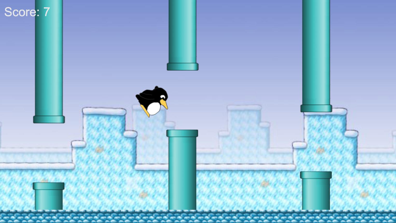 Screenshot of Flappy Tux