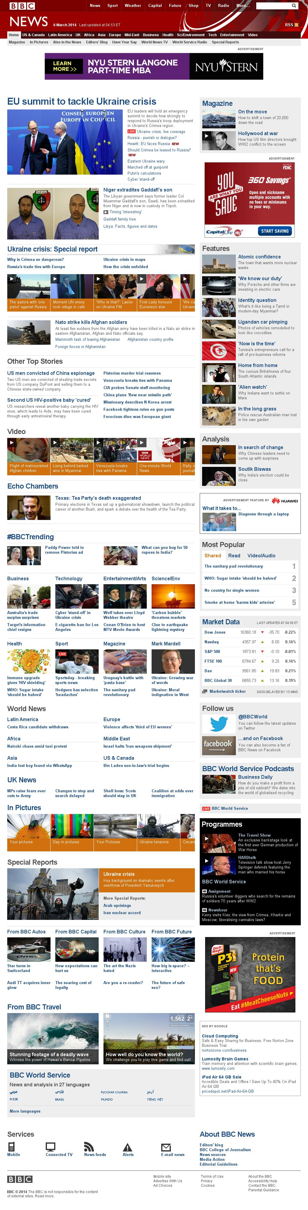BBC at Thursday March 6, 2014, 10:01 a.m. UTC