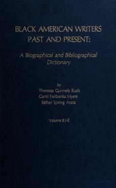 Cover of: Black American writers past and present | Theressa Gunnels Rush