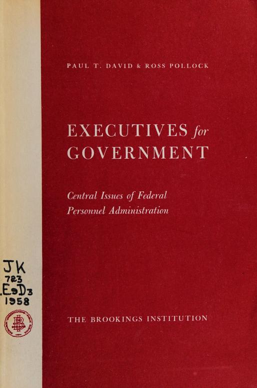 Executives for government by Paul Theodore David
