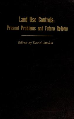 Cover of: Land use controls | David Listokin