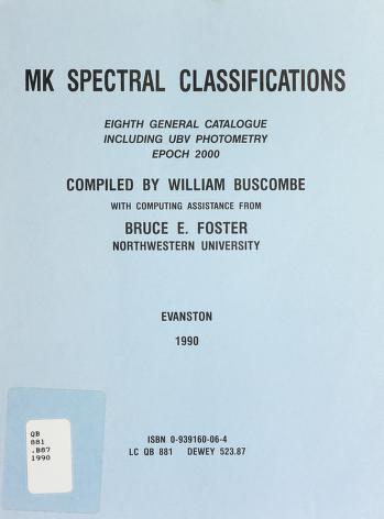 Cover of: Mk Spectral Classification | William Buscombe