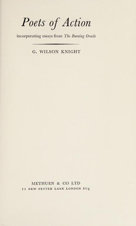 Poets of action by George Wilson Knight