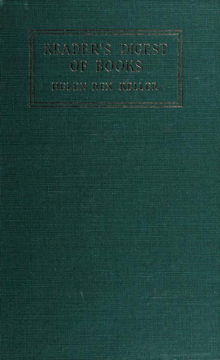 The reader's digest of books by Helen Rex Keller